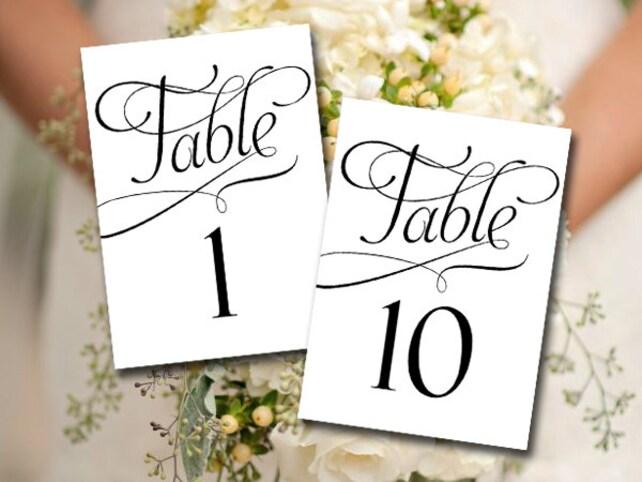 Wedding Table Number Printable Instant Download - Bridal Shower