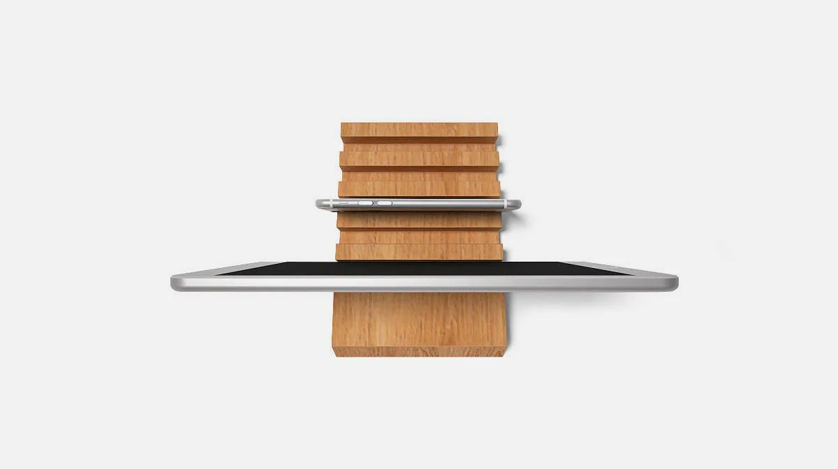 Stylish Charging Station Wooden Multiple Charging Station For Ipad Iphone Kindle Up To 5 Devices