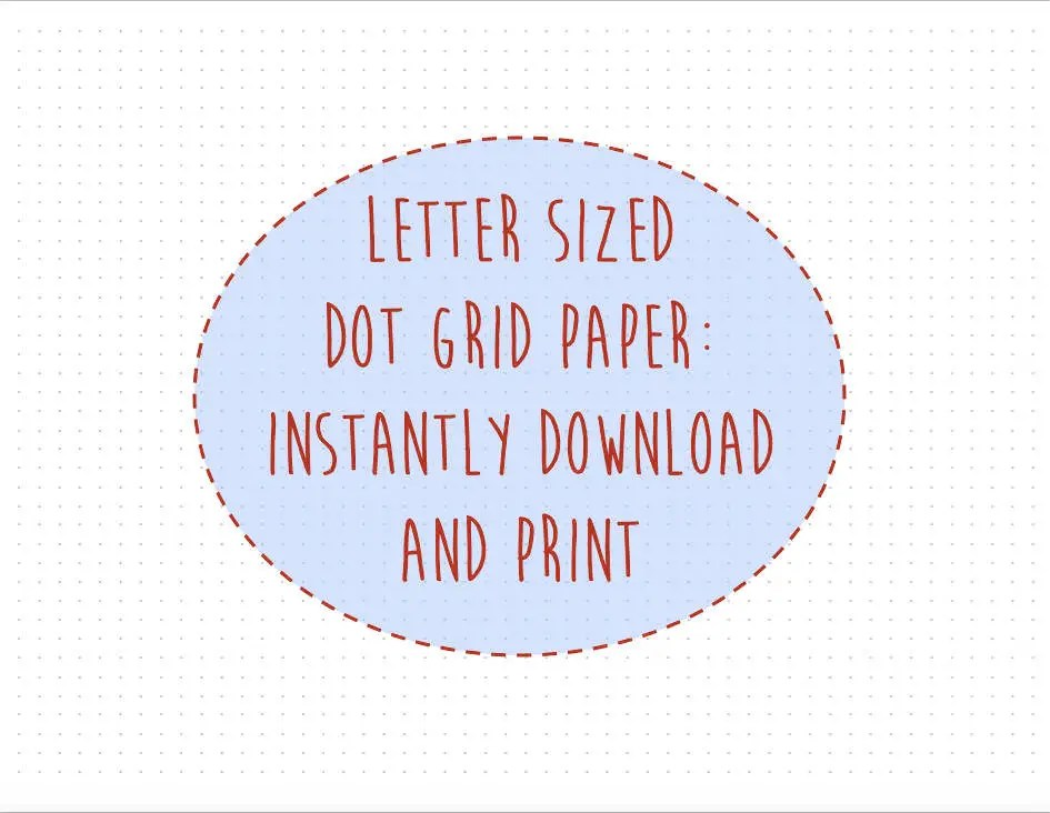 Dot Grid Paper Bullet Journal Pages Printable Dot Grid