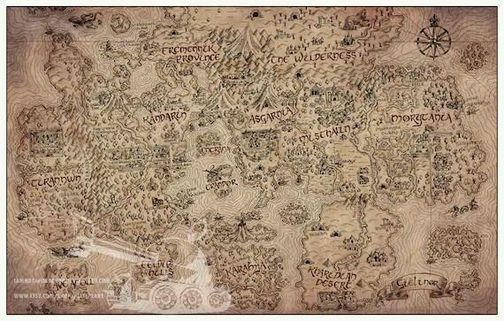 Vintage RuneScape World Map Print 11 x 17 Etsy