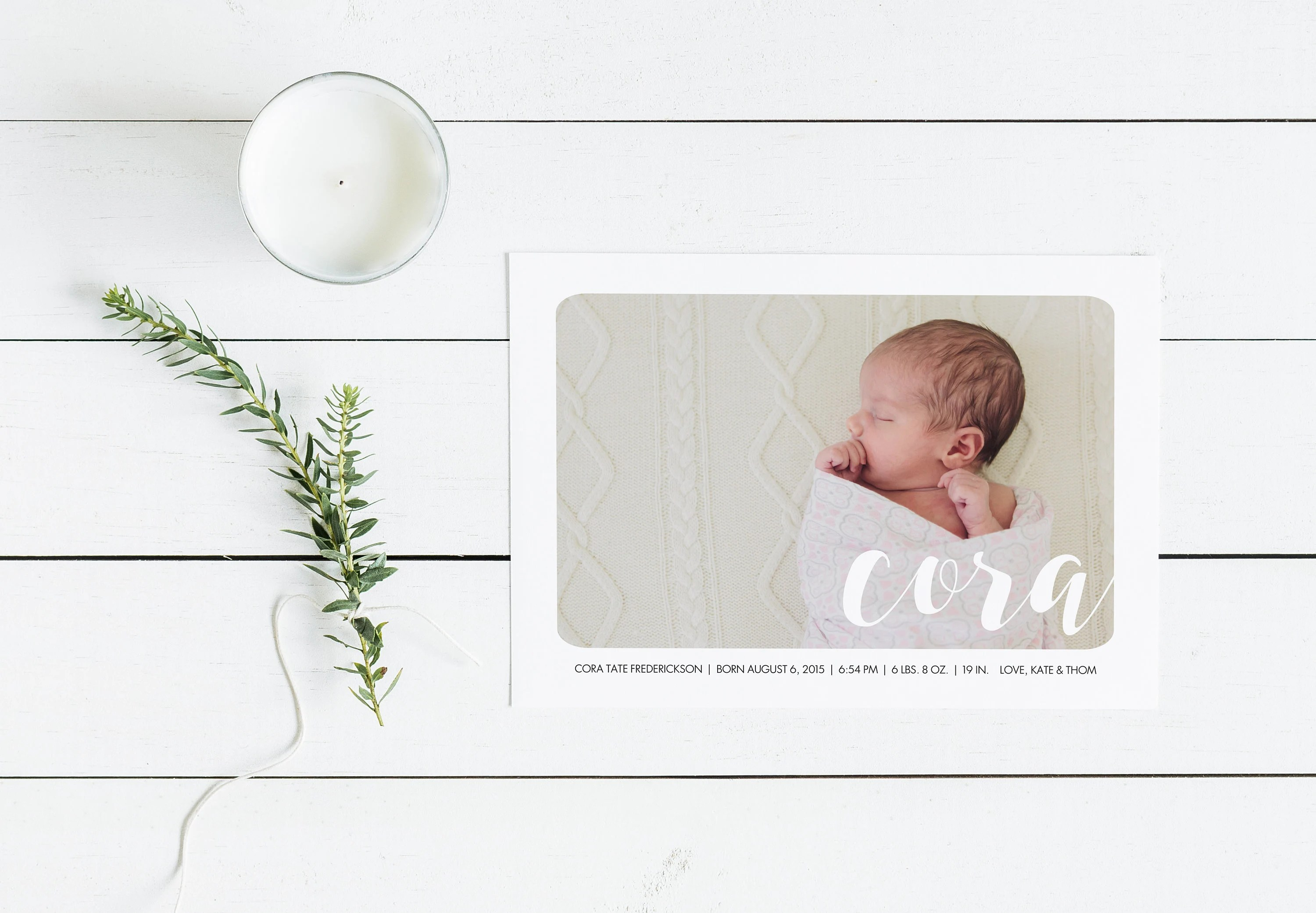 Modern Baby Announcements   Birth Announcement Cards   Baby Etsy