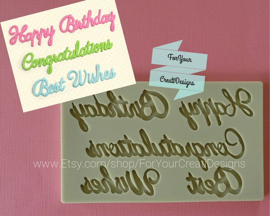 Happy Birthday Congratulations and Best Wishes words Etsy