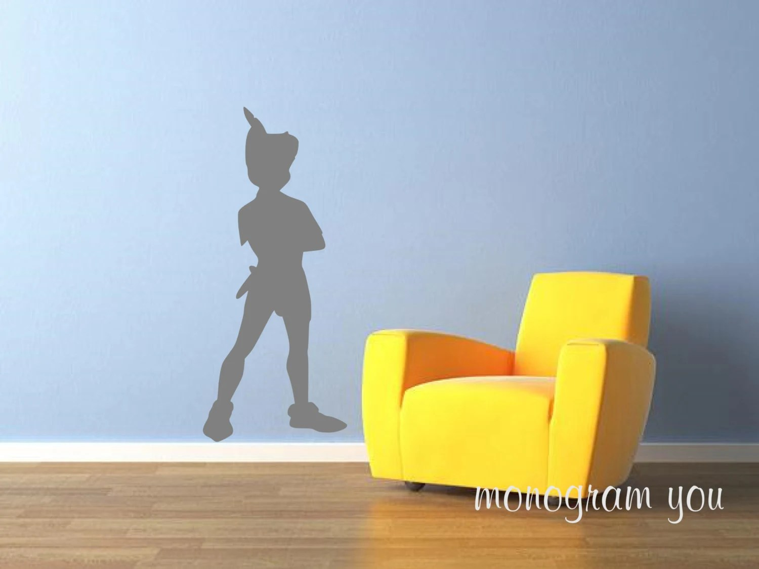 Boys Room Walls Peter Pan Standing Wall Decal Nursery Wall Decal Kids Room Wall Decal Boys Room Wall Decal Girls Room Wall Decal