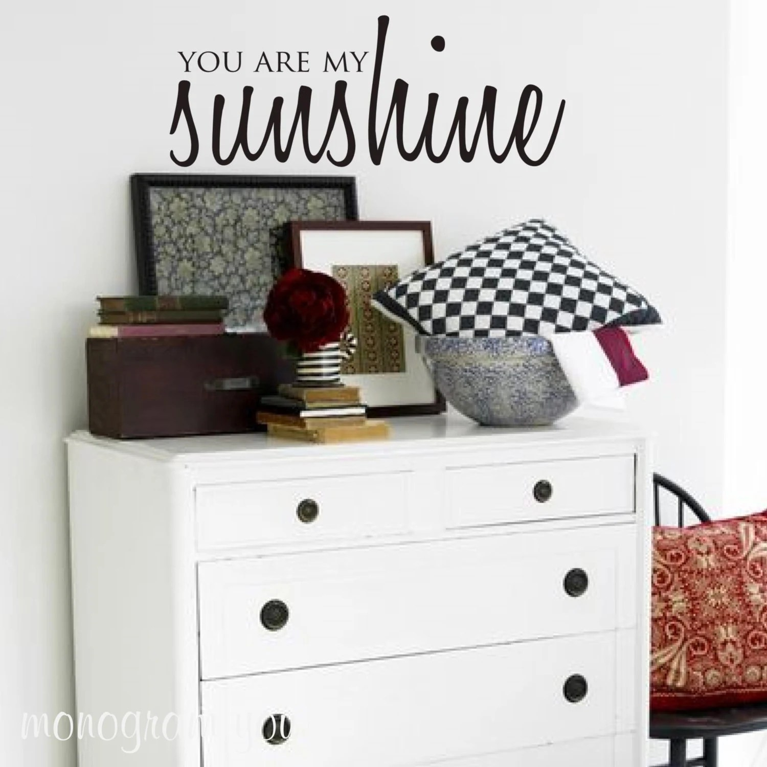 Boys Room Walls Wall Decal You Are My Sunshine Nursery Wall Decal Kids Room Wall Decal Boys Room Wall Decal Girls Room Wall Decal