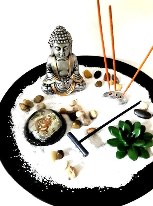 Canapé Relax Quartz Orgone Buddha Zen Garden Buddha Statue Desk Accessories Work Gifts Anxiety Aids Stress Relief Meditation Buddhist Decor Zen Garden New Age