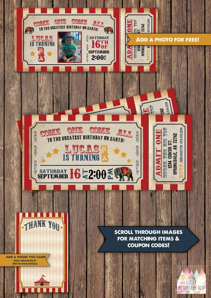 Circus Invitation Circus Birthday Invitation Circus Party - circus party invitation