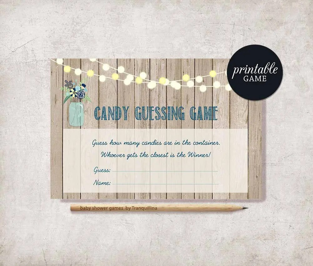Candy Guessing Game Printable Boy Baby Shower Game Guess how Etsy