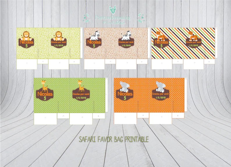 Jungle birthday favor box Printable safari favor box Safari Etsy