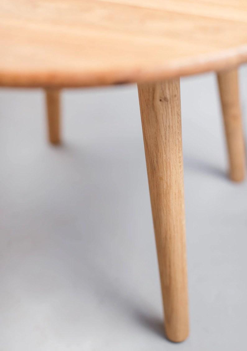 solide eiche runder couchtisch vintage retro mitte jahrhundert moderne danische skandinavischen minimalistisch konische beine mobel