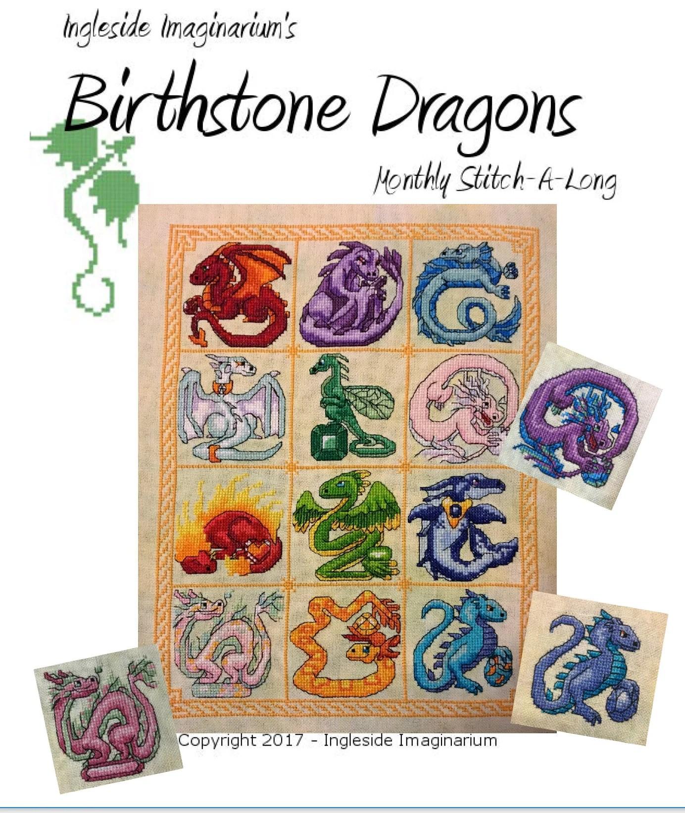 Birthstone Dragon Mystery Stitch-a-Long Cross Stitch Pattern