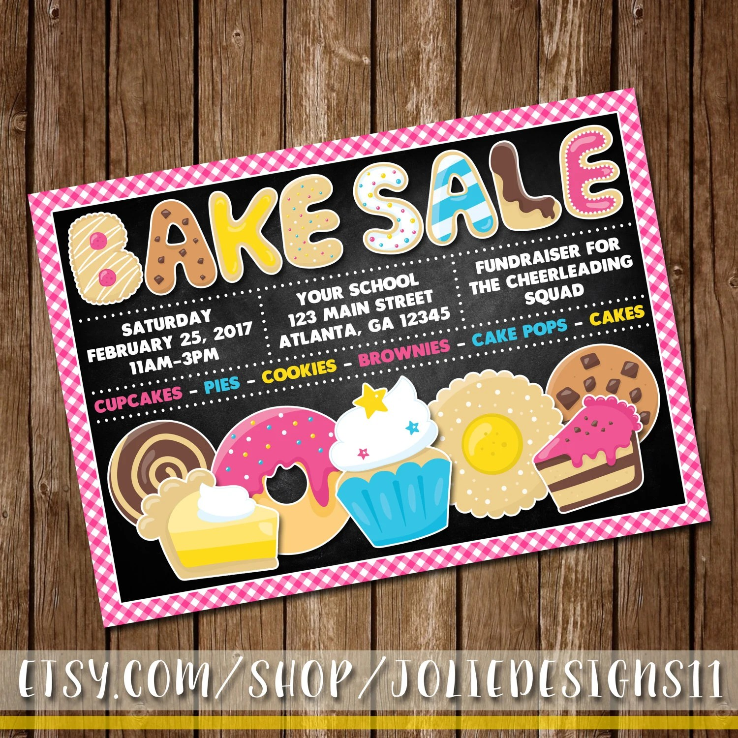 Bake Sale Flyer Fall/Easter/Christmas/Halloween School Etsy