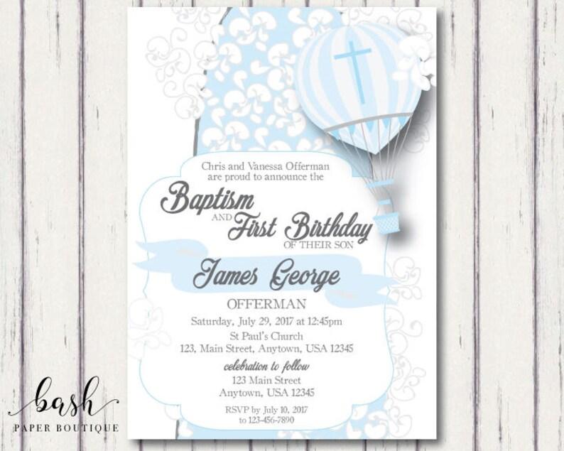 Baptism Birthday Baptism Invitation Baptism Birthday Etsy