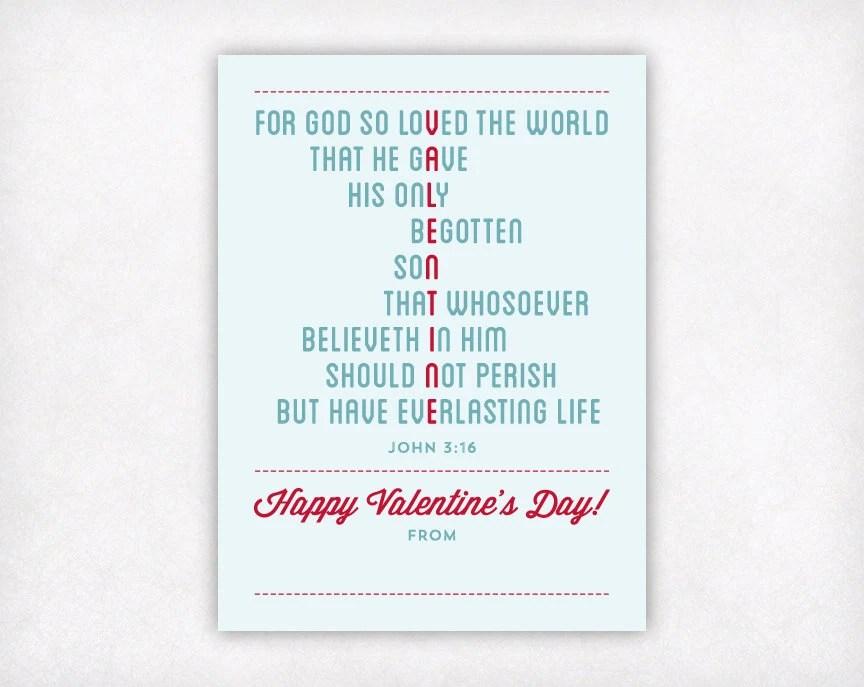 PRINTABLE Bible Verse Kids Valentine Card Christian Scripture Etsy