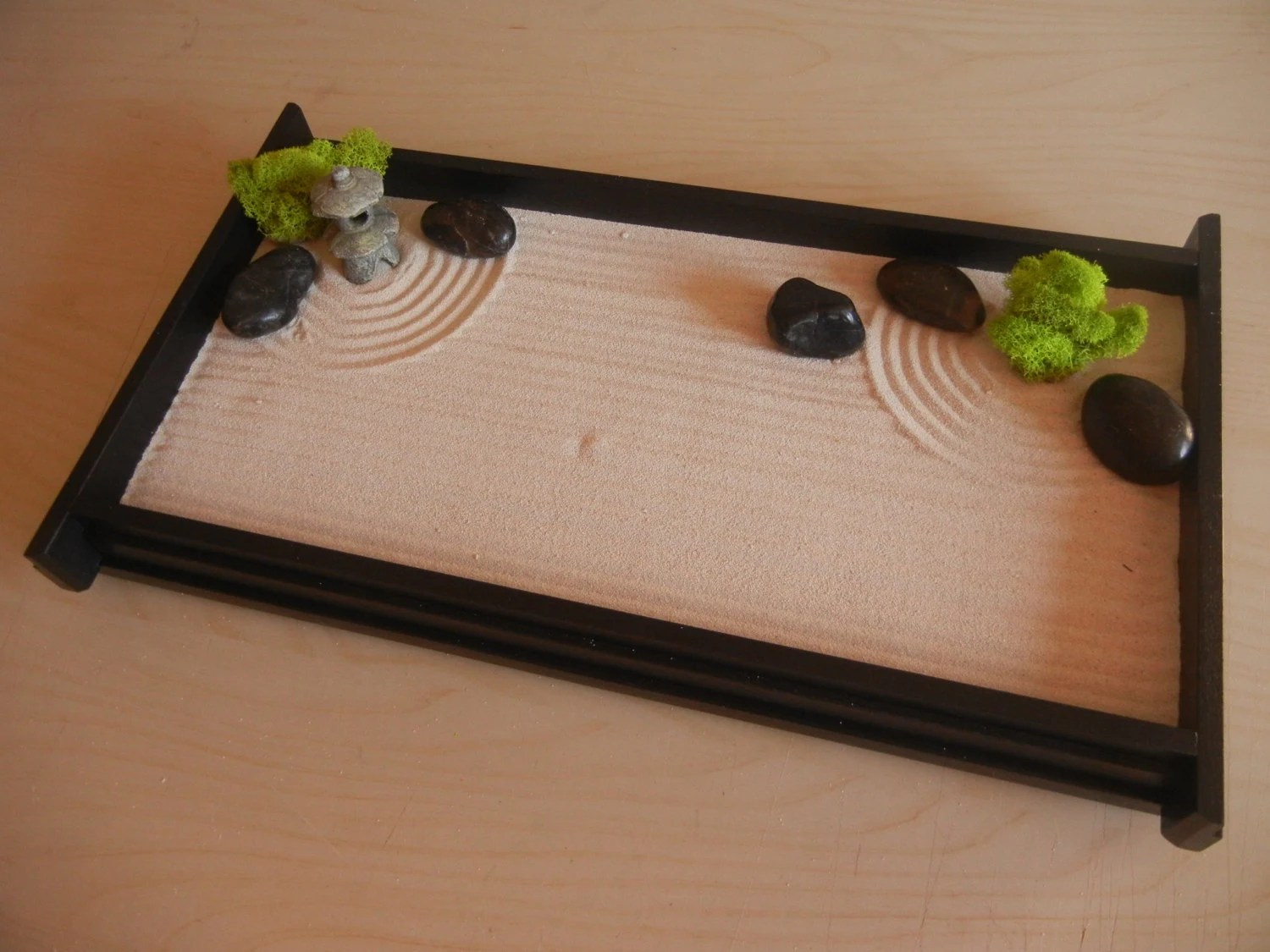 Table Top Zen Garden L03p Large Desk Or Table Top Zen Garden With Mini Pagoda Diy Kit