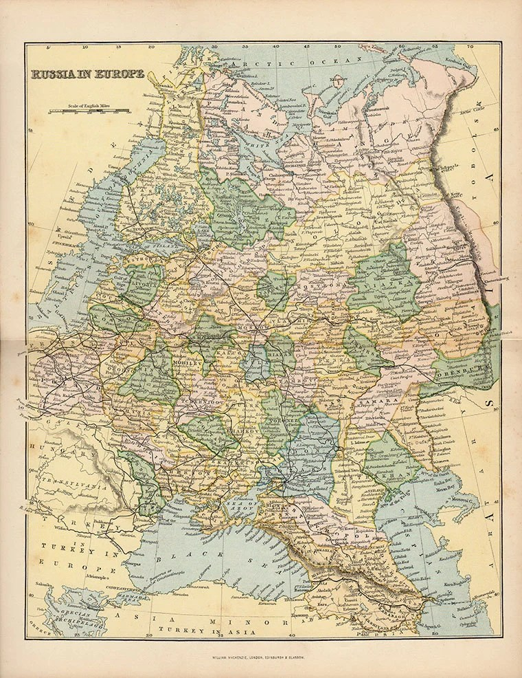 Atlas Meubles Saint Pierre Reunion Grande Carte Magnifique De La Russie 1890 Atlas Antique Russe Carte Carte De Moscou Carte Decor