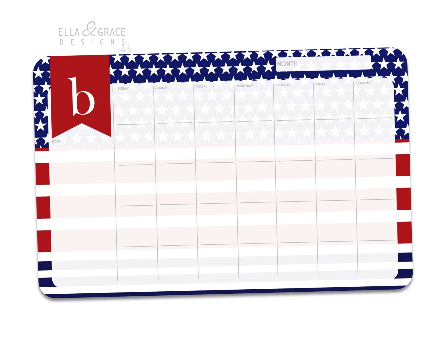 Personalized Monthly Desk Calendar Monthly Planner Desk Etsy