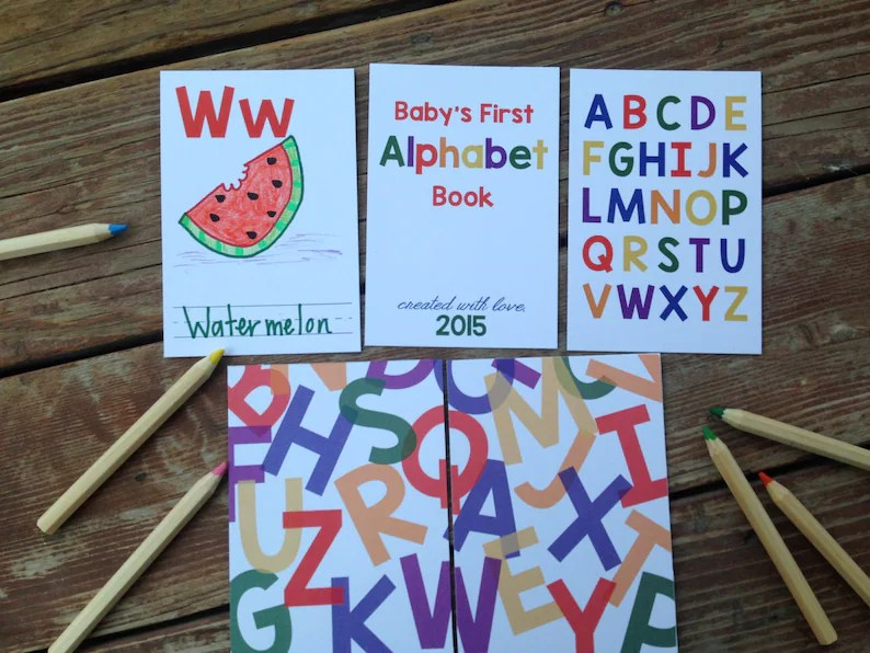 Instant Download DIY Alphabet Book Primary Colors Baby Etsy