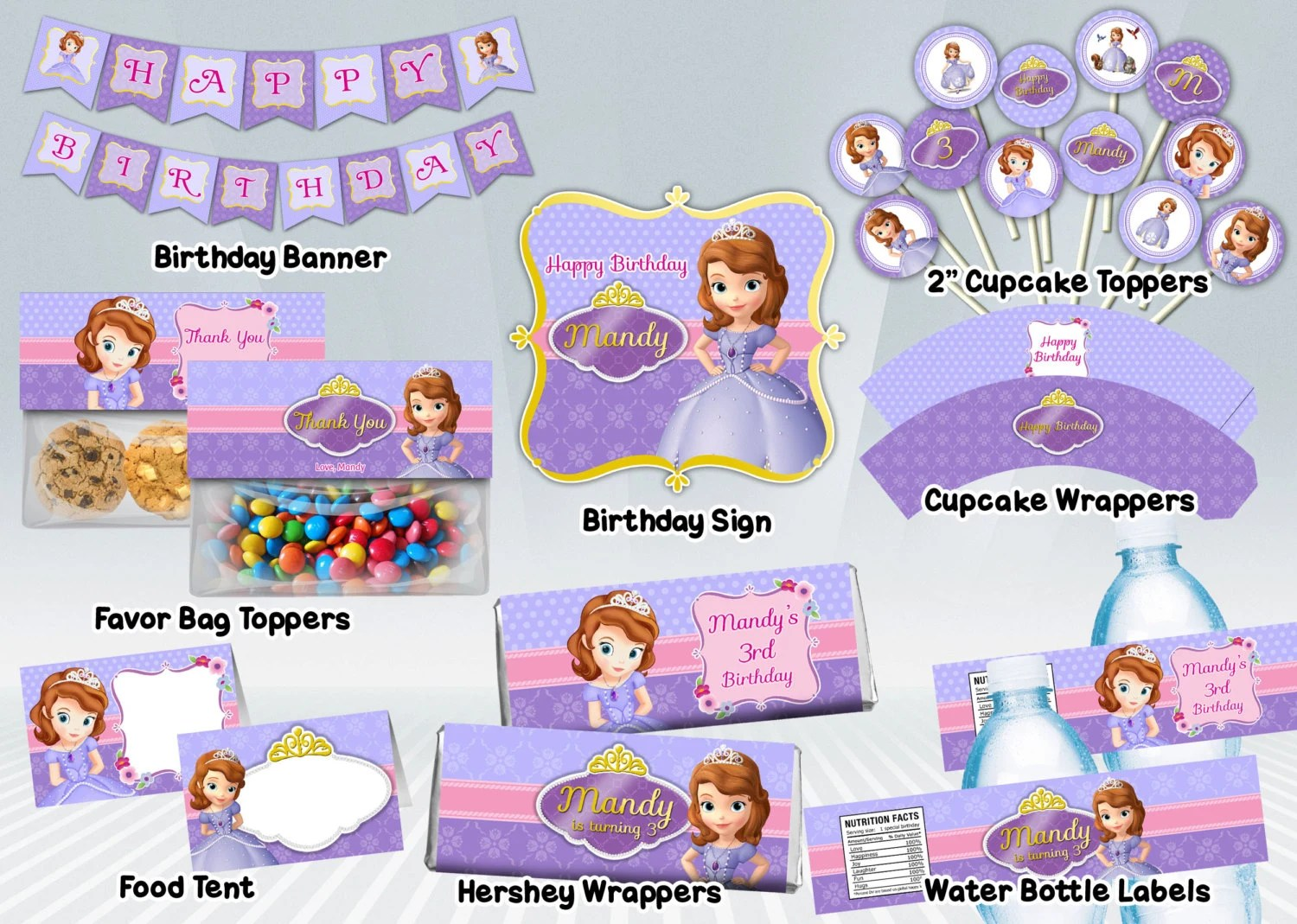 Sofia the First Printable Party Package Etsy