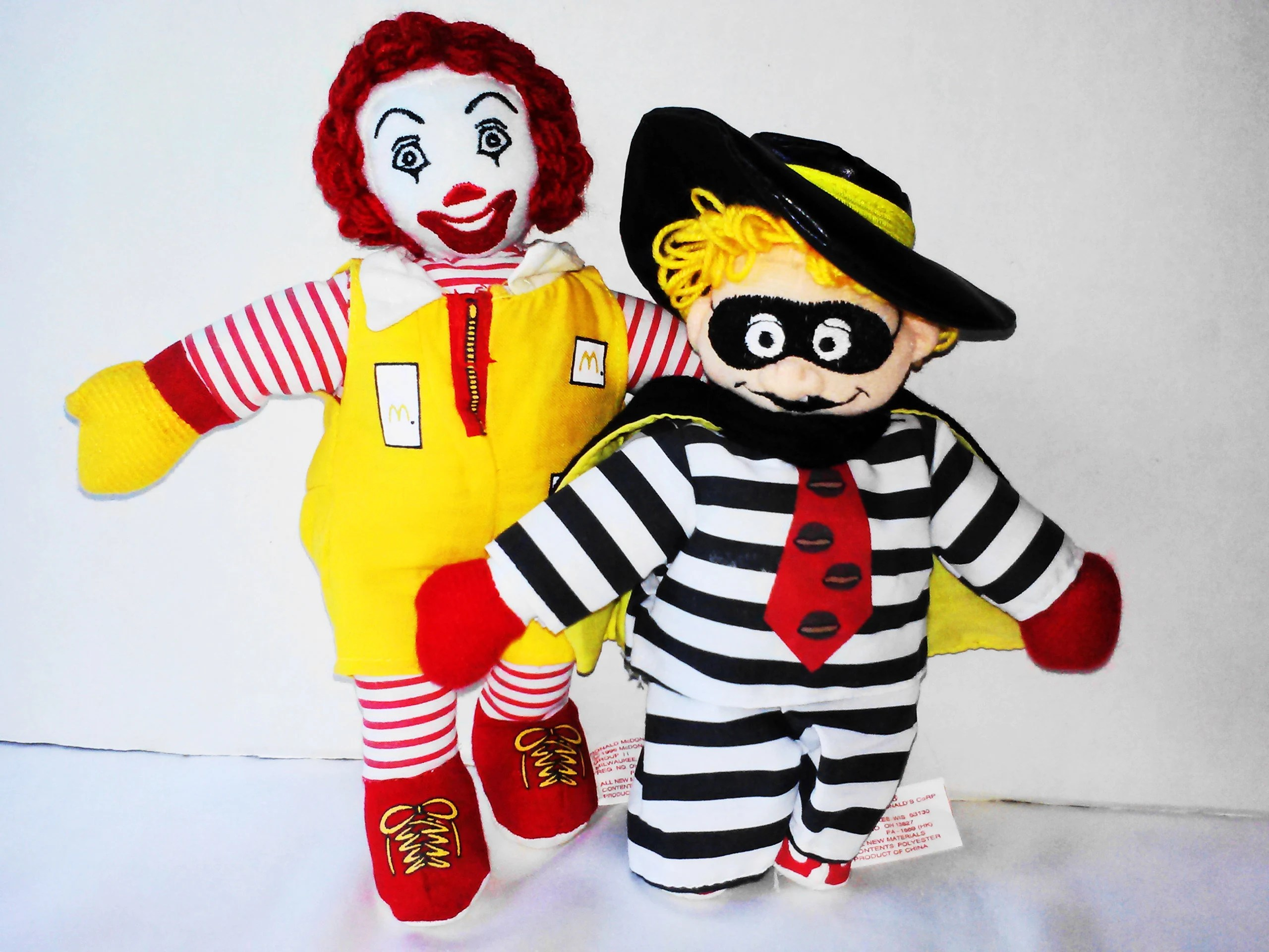 Wanddeko Clown Mcdonalds Stuffed Clown Doll Toy Ronald Mcdonald Clown Doll Hamburgler Doll Toy Vintage Collectible Dolls