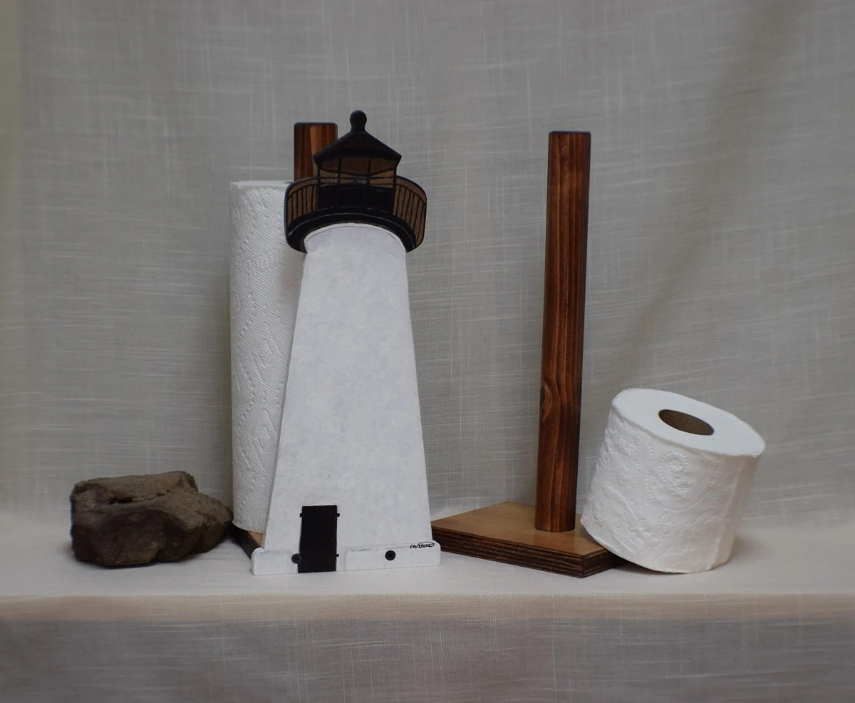 Toilet Paper Holder Unique Ned S Point Lighthouse Toilet Paper Holder Nautical Bathroom Decor Sturdy Free Standing Unique Handcrafted Gift Lighthouse Paper Towel