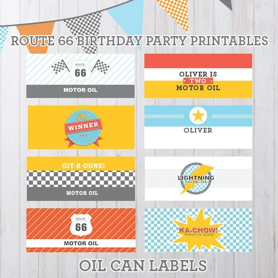 Personalizable Radiator Springs Vintage Cars Birthday Party