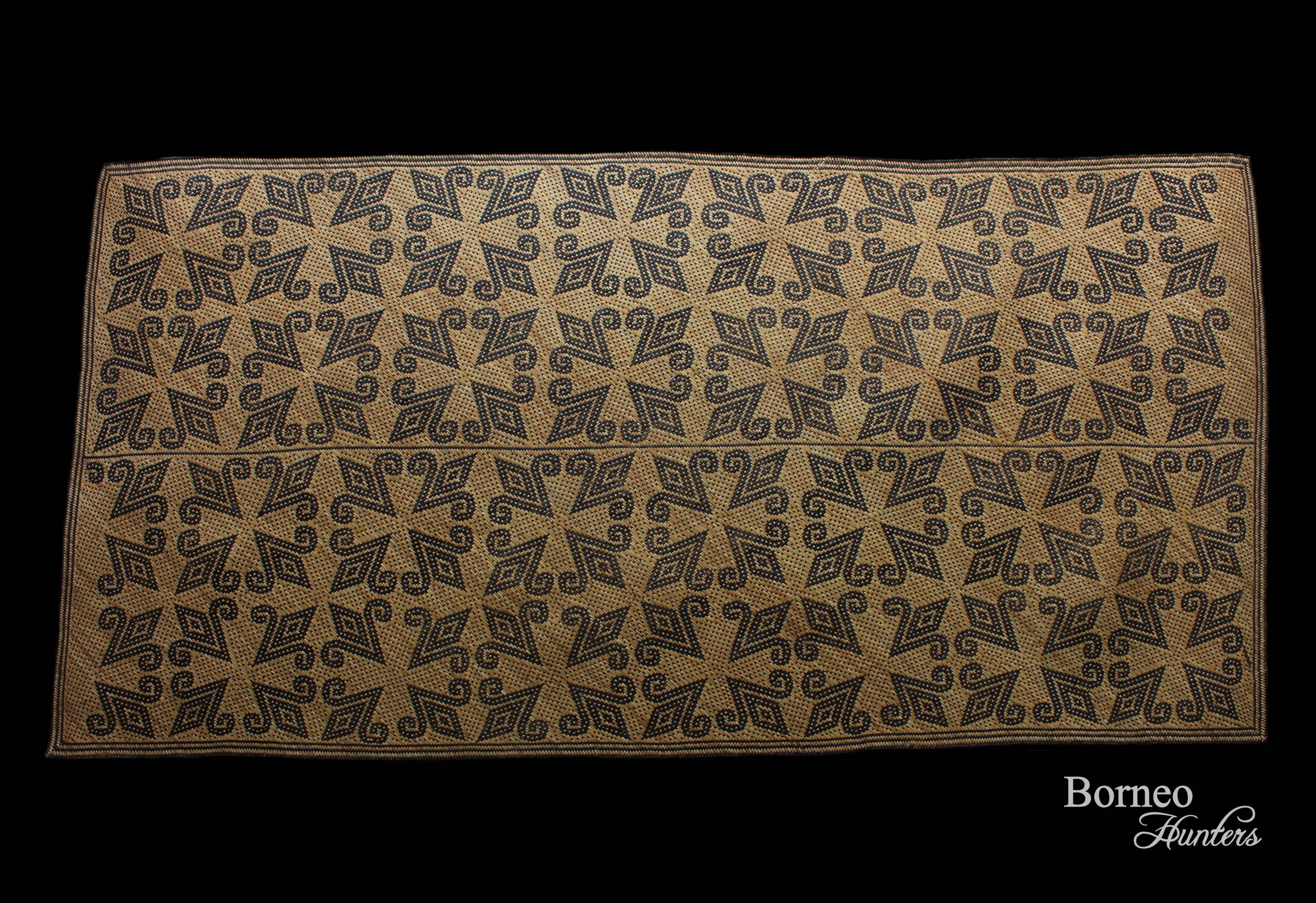 Tapis Rotin Tapis En Rotin Tribal De Bornéo 206cm Traditionnel à La Main Tissé Penan Punan Tapis Tressés Art De Bornéo Collection Wall Decor