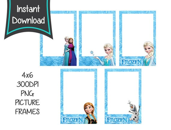 Items similar to Frozen Instant Download, Frozen picture frame