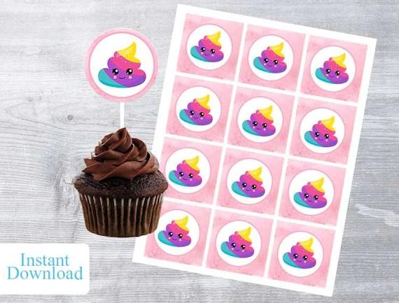Poop Emoji Poop Emoji party Poop Emoji Cupcakes Emoji Etsy