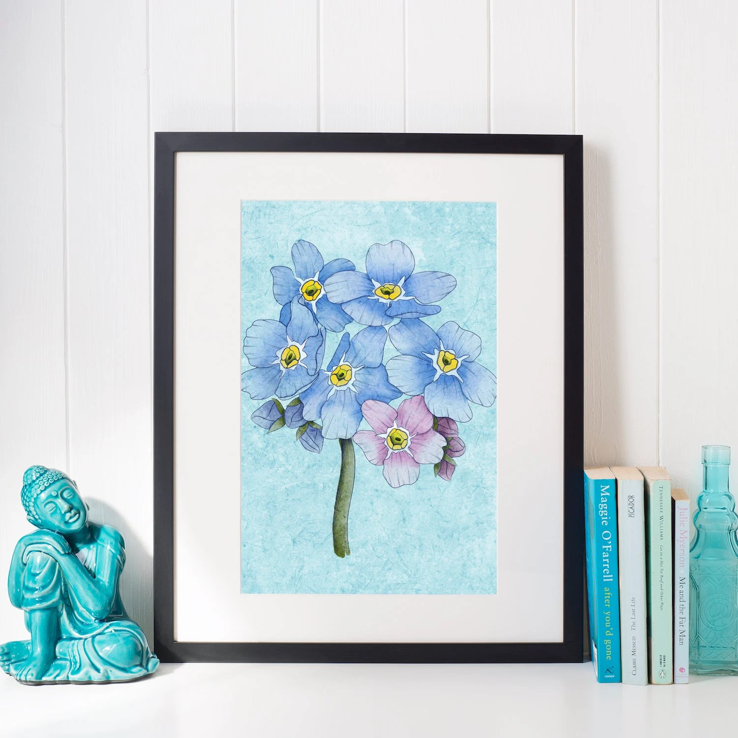 Forget Me Nots 8x10 Digital Painting Printable Wall Art Etsy
