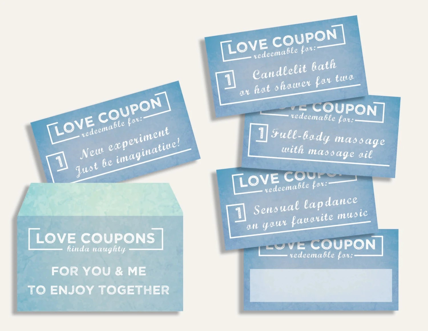 Colorful Instant download printable sexy love coupons book Etsy - Coupon Book Printing