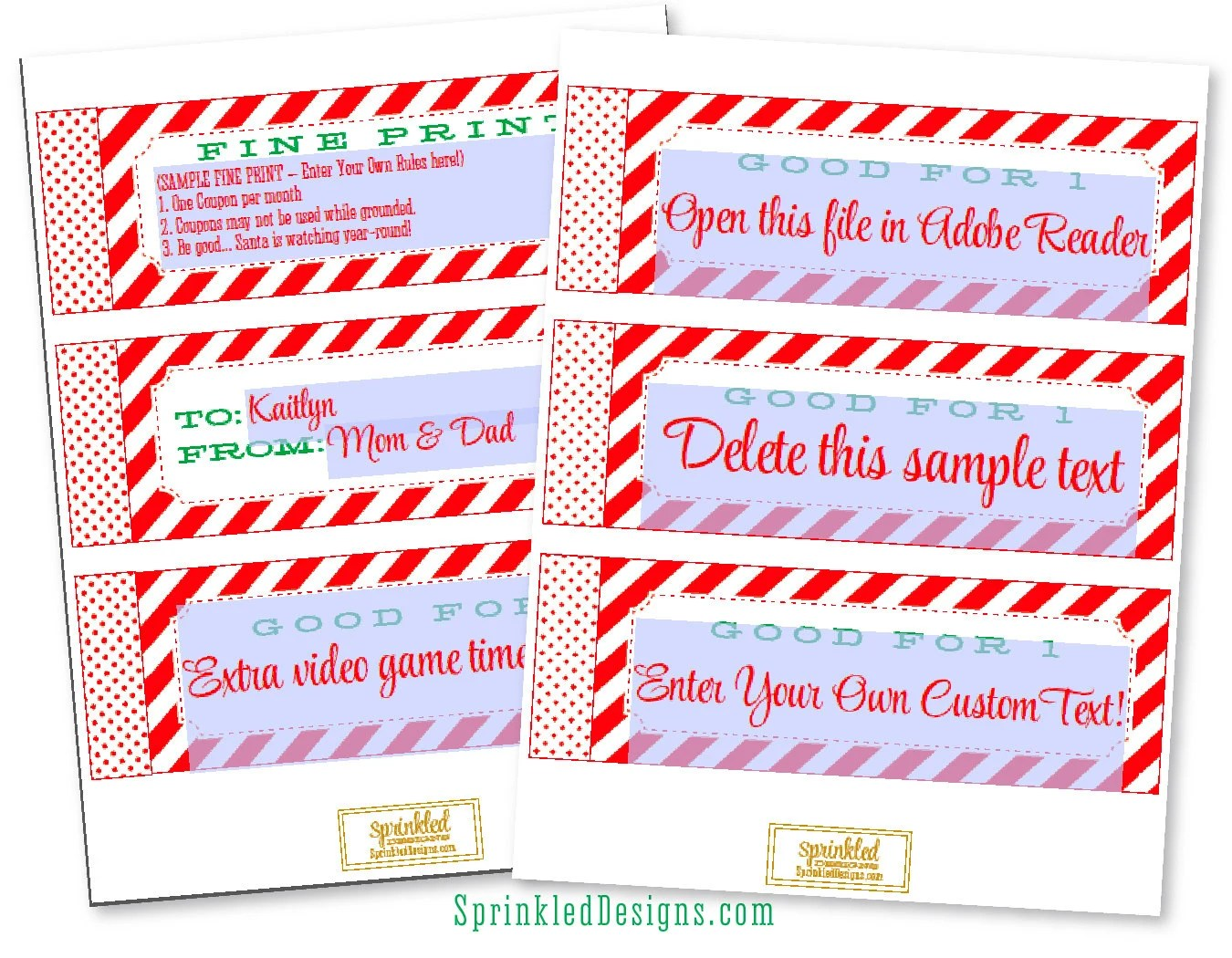 Christmas Coupon Book For KIDS Gift Ideas for Son Daughter Etsy