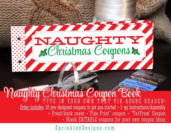 Christmas Naughty Coupon Book - Sexy Christmas Gifts For Him Her