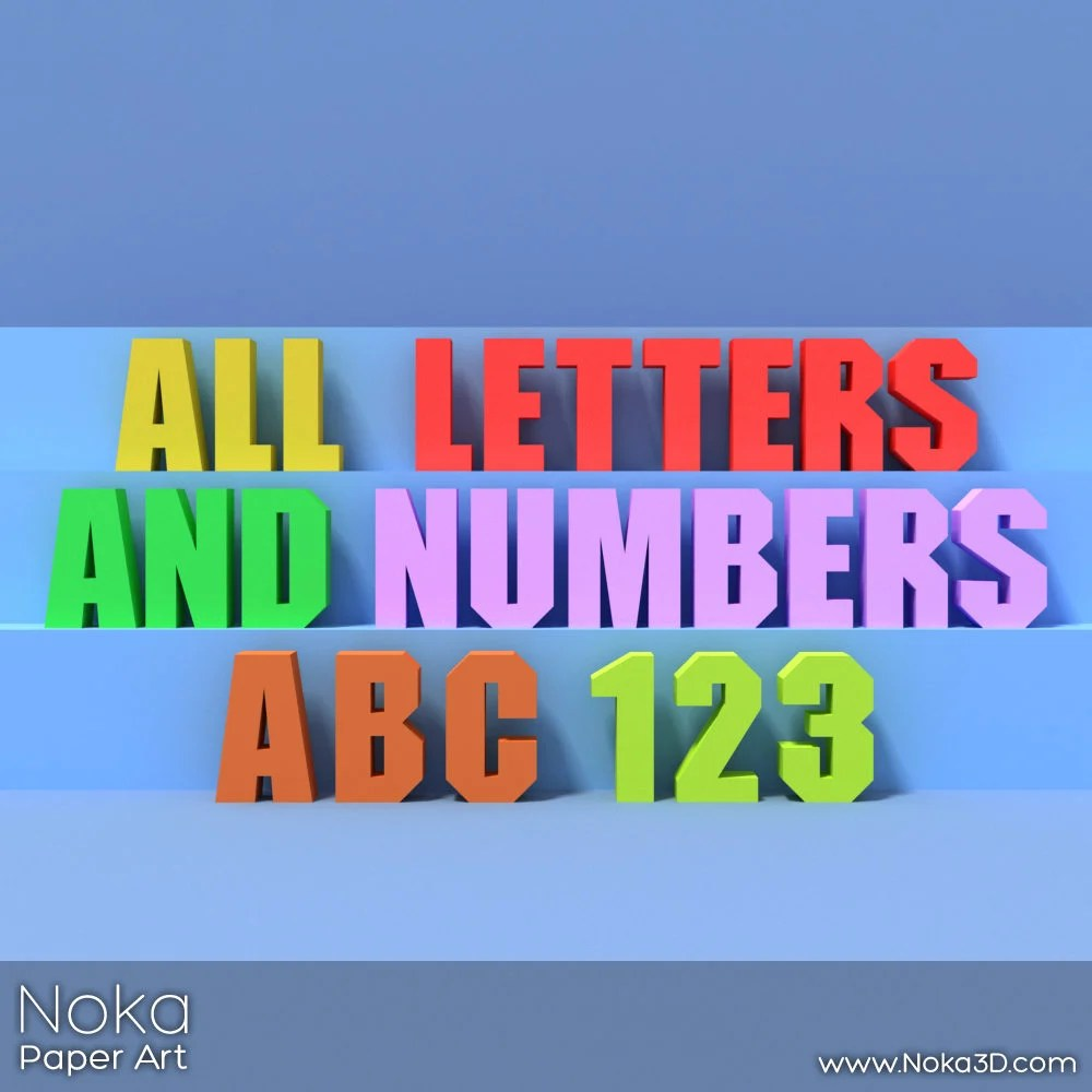 All Letters and Numbers A-Z 0-9 Big Letter Decor 3D DIY Etsy