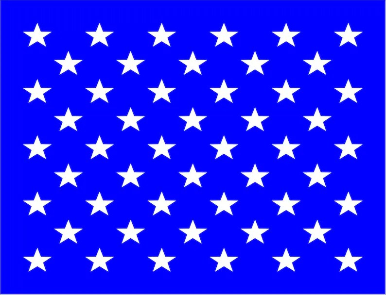 50 Stars US FLAG Reusable STENCIL Available in 24 sizes Etsy