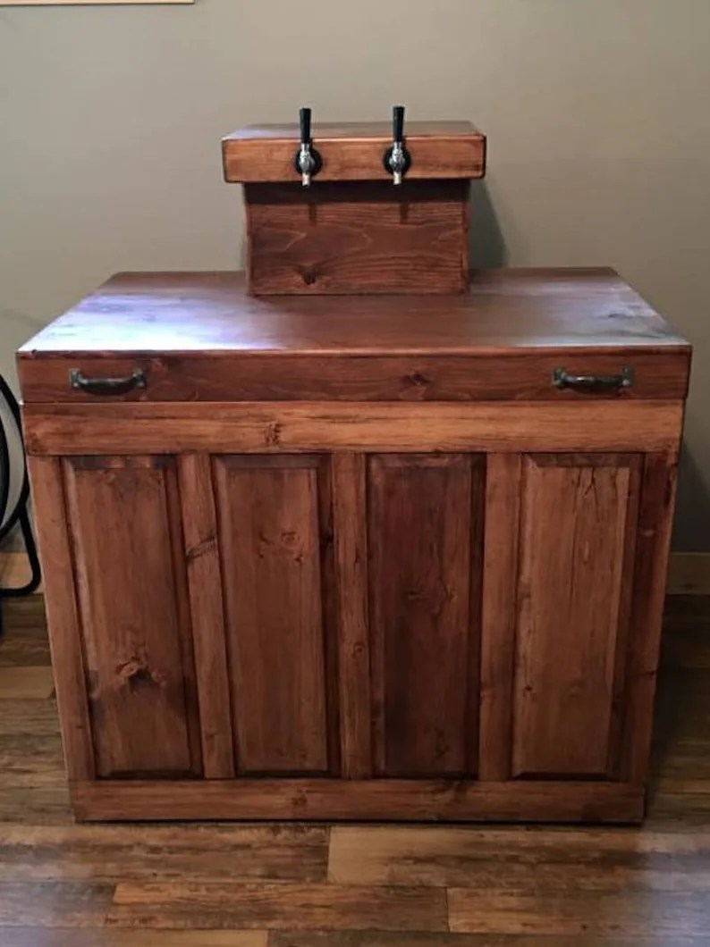 Home Bar Furniture Kegerator Beer Coolers Dispensers Custom Made Kegerators Home Bar Wood Furniture Personalized Bar Furniture Skaggs Creek Wood Shop