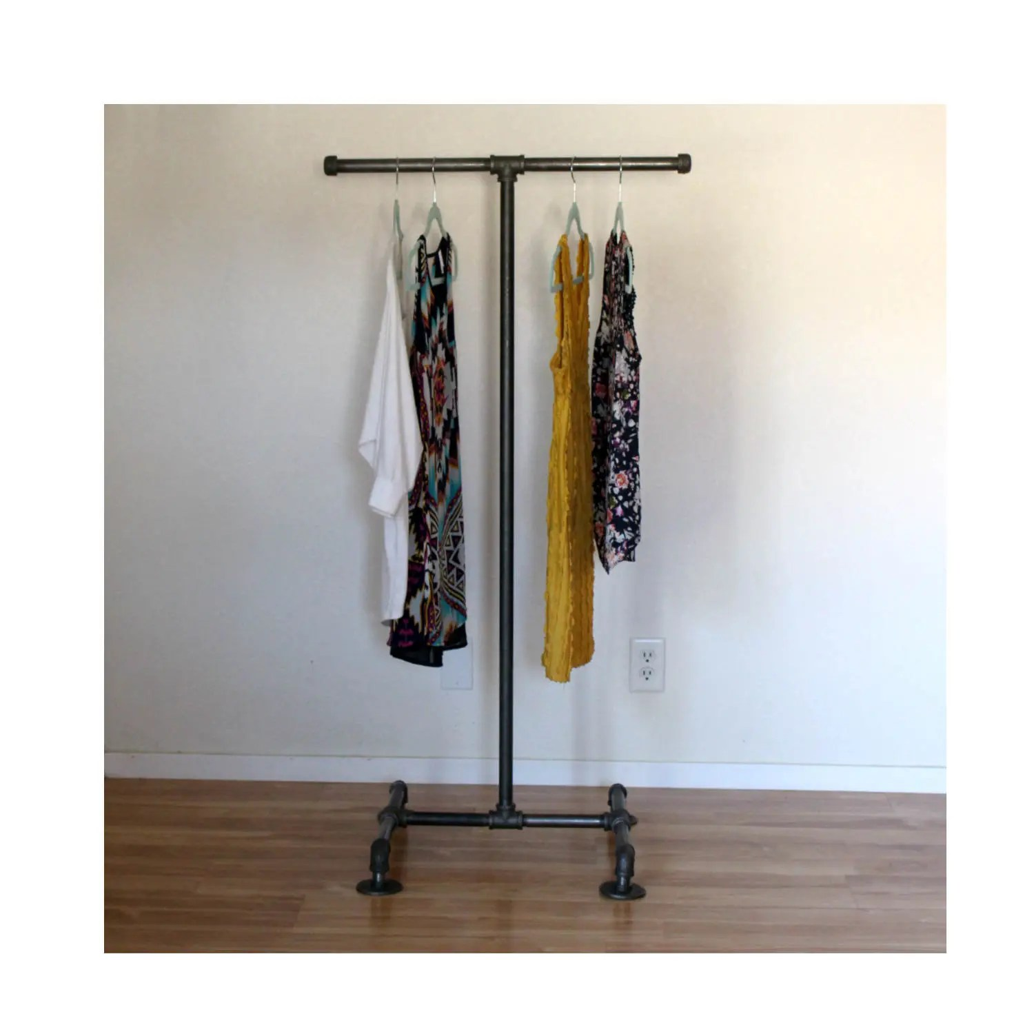 Industrial Clothing Rack Industrial Clothing Rack T Stand Pipe Retail Display Industrial Furniture Clothing Display Store Display