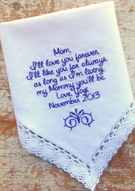 monogrammed handkerchiefs for weddings