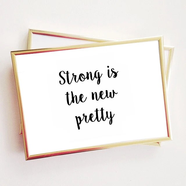 Strong is the new pretty quote typographic print quote print Etsy