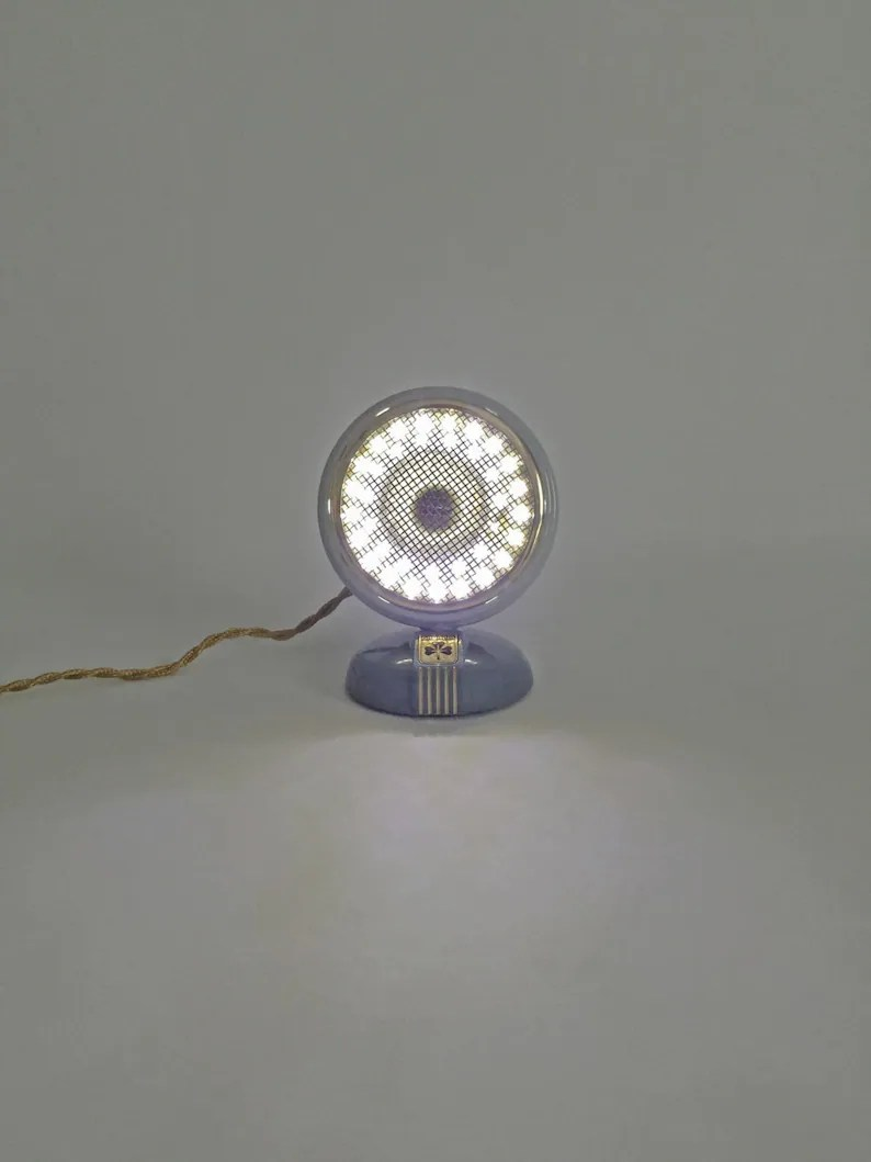 Industriele Led Verlichting Upcycled Microfoon Lamp Nachtlampje Industriële Verlichting Led Lamp Led Verlichting Klein Lampje Oude Microfoon Gratis Verzending