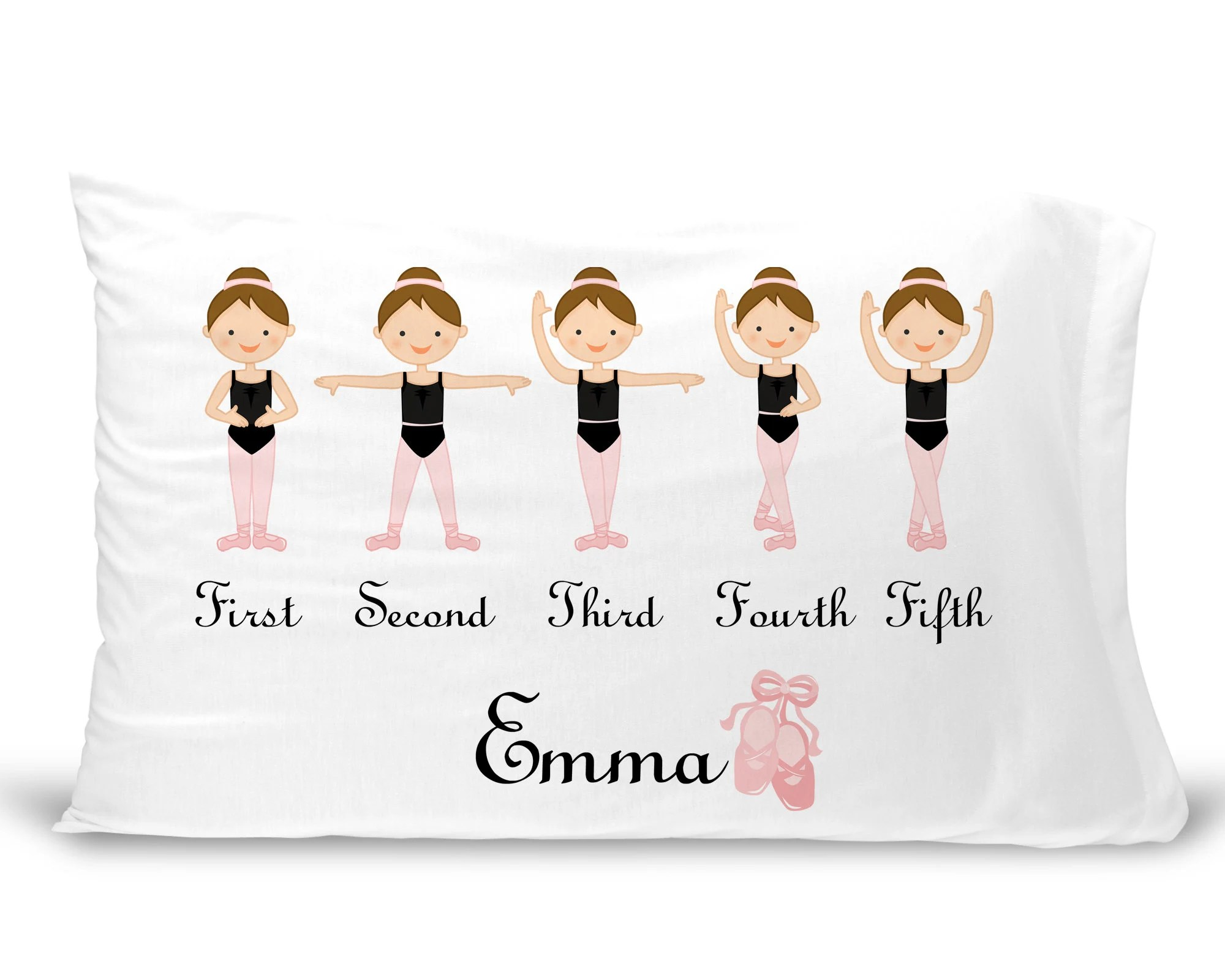 Slip Pillowcase Personalized Kids Pillowcase Ballerina Pillowcase For Girls Ballet Pillow Case Custom Ballerina Pillow Slip