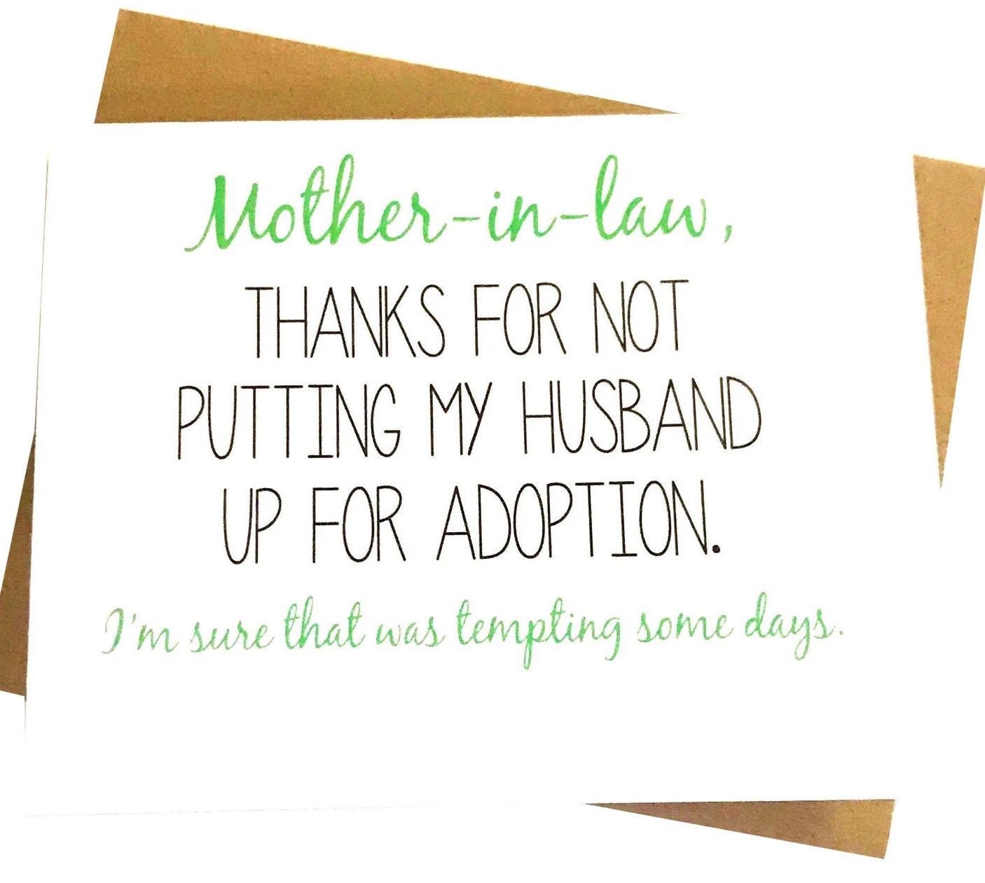 Mother in Law Card Mother\u0027s Day Card Mom Birthday Card Etsy