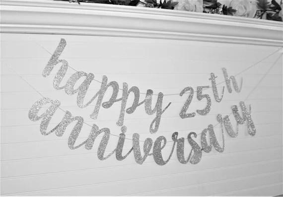 WEDDING ANNIVERSARY BANNER Happy Anniversary Banner Custom Etsy