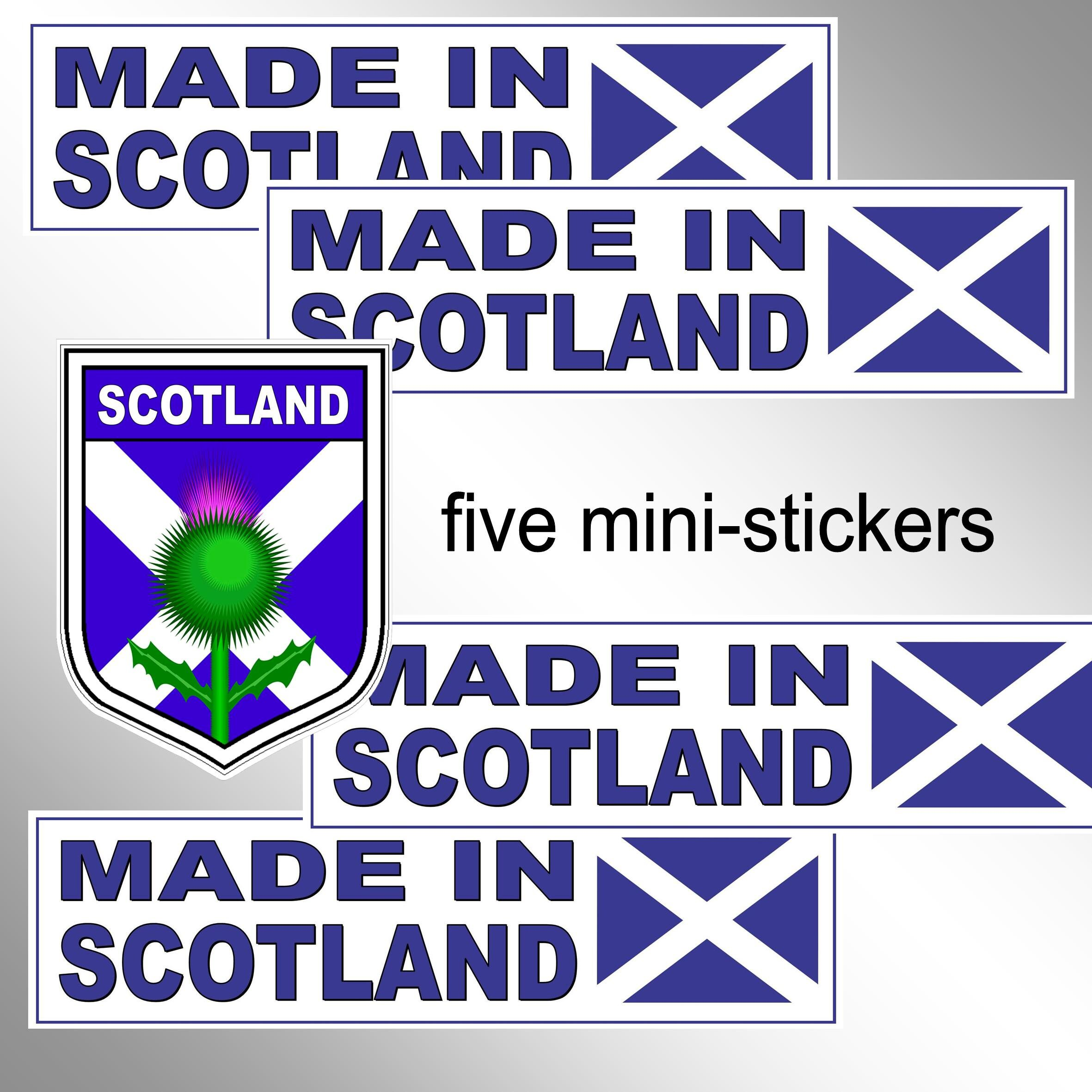 Vinyl 200 Cm Breed Made In Scotland Vinyl Stickers And Flag And Thistle Shield 5 Mini Stickers Vinyl Scots