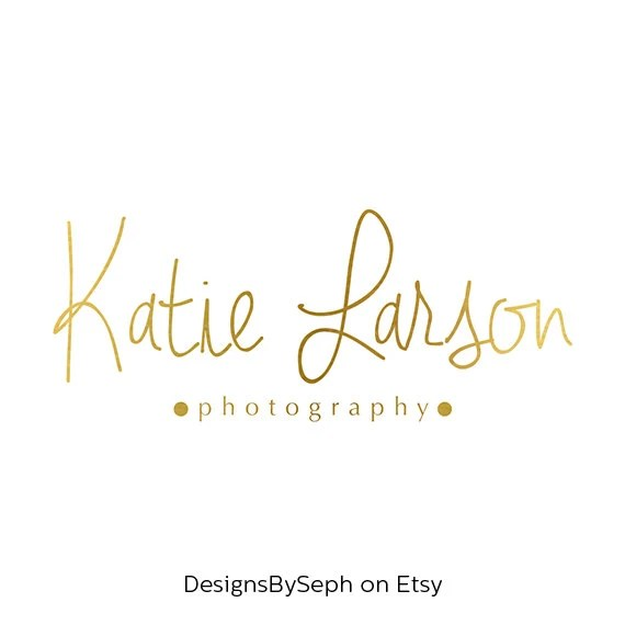 Pre-made Logo Design and Photography Watermark Logo Template Etsy