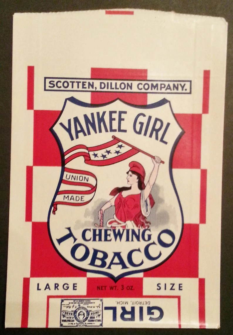Warehouse For Sale Detroit Vintage Yankee Girl Chewing Tobacco Unused Bag Large Size 3 Oz New Old Stock Warehouse Find
