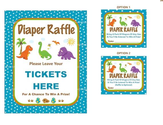 Dinosaur Diaper Raffle Dinosaur Baby Game Printable Dinosaur Etsy