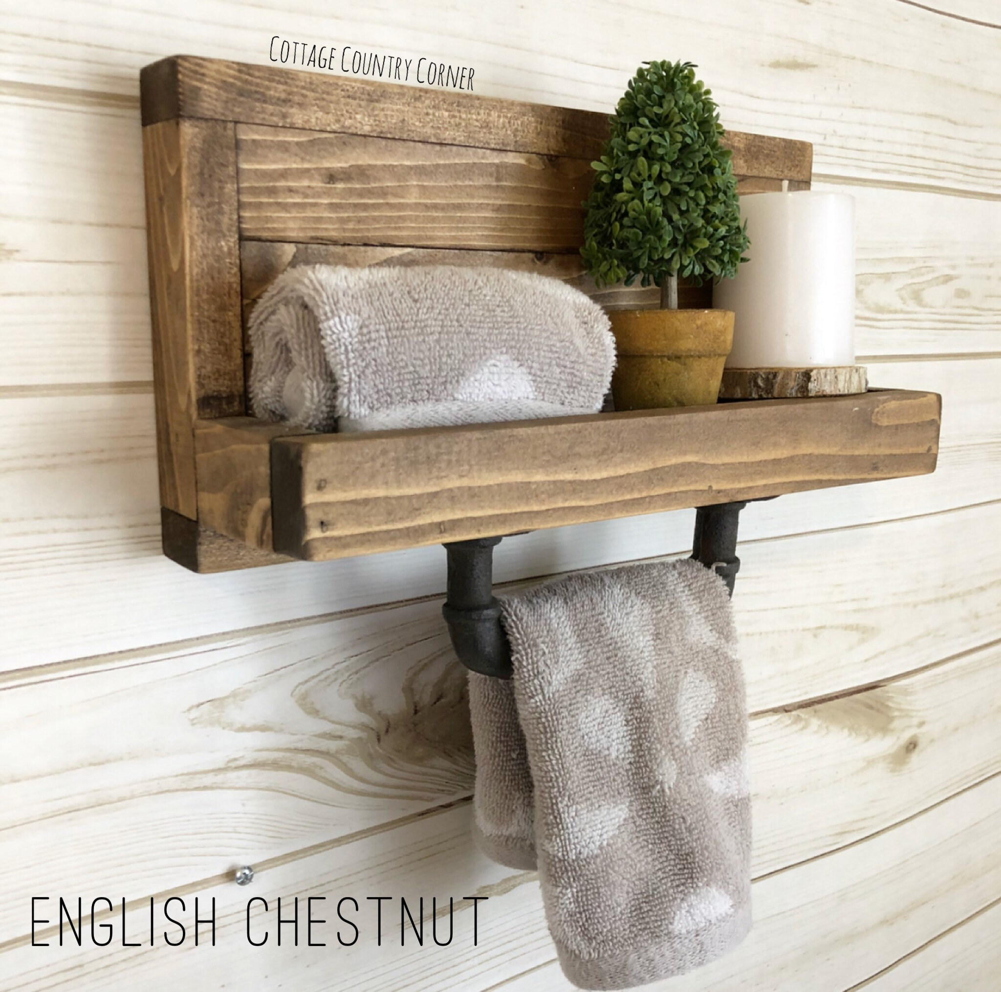 Farmhouse Hand Towel Holder Hand Towel Holder Towel Rack Bathroom Decor Towel Rack