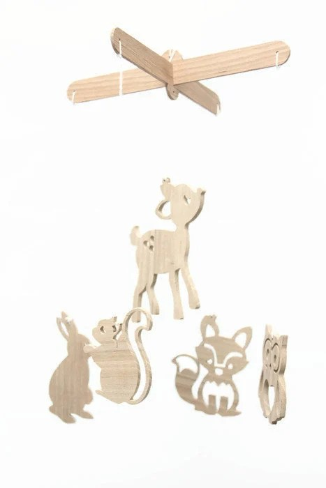 Wooden Baby Mobile Forest Animals Wooden Baby Crib Mobile Baby Boy Mobile Baby Girl Mobile Mobile Bebe Nurcery Mobile Animal Mobile Babyshower Gift