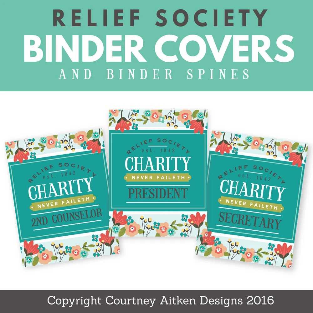LDS Relief Society Printable Binder Covers Etsy