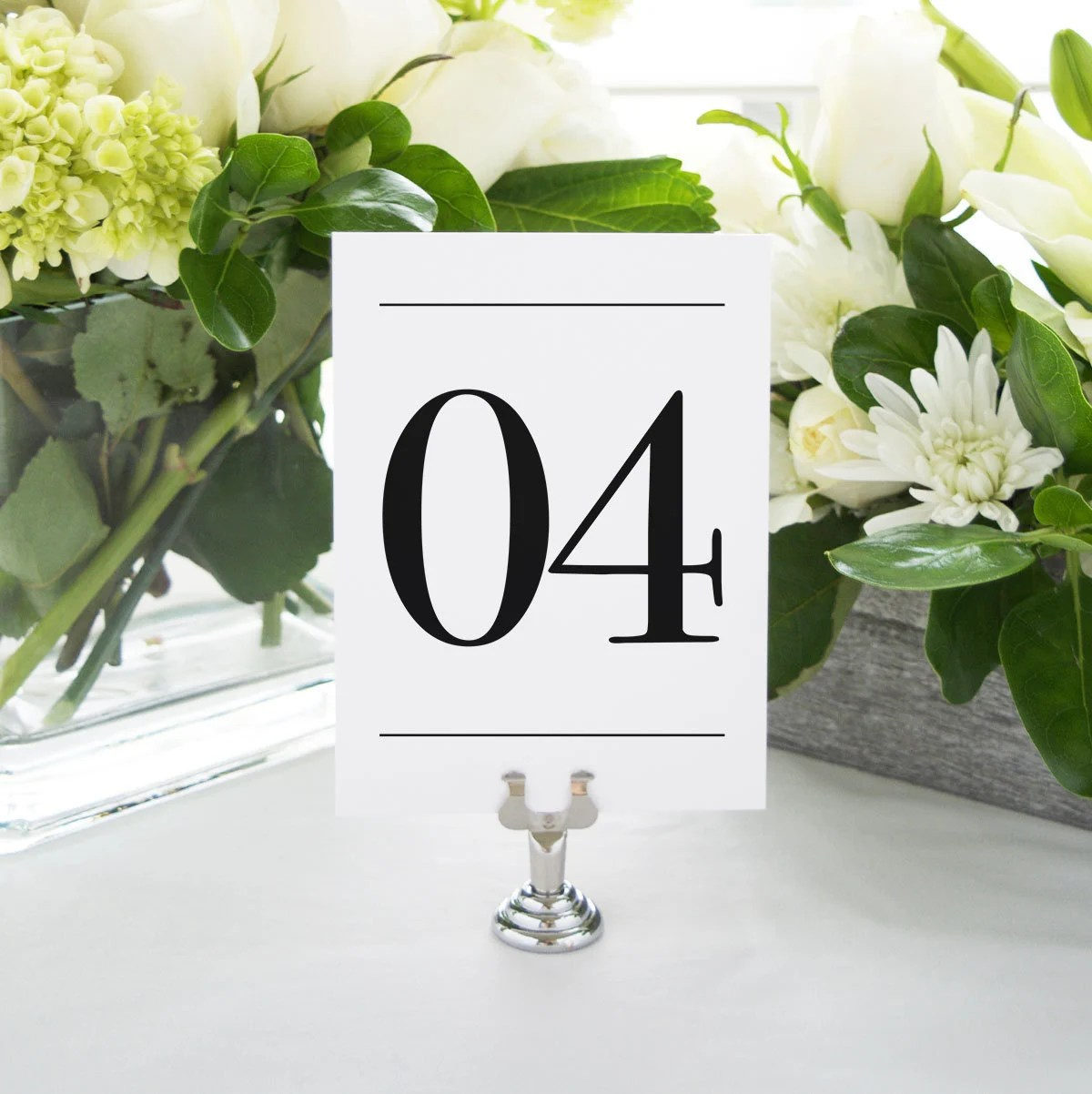 INSTANT DOWNLOAD Modern Numerals Printable Table Numbers Etsy